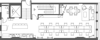 Floor plan for Breather office space 23 West 23rd Street, 3rd Floor, Suite 300