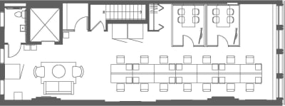 Floor plan for Breather office space 23 West 23rd Street, 4th Floor, Suite 400