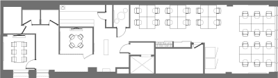Floor plan for Breather office space 26 West 23rd, 5th Floor, Suite 500