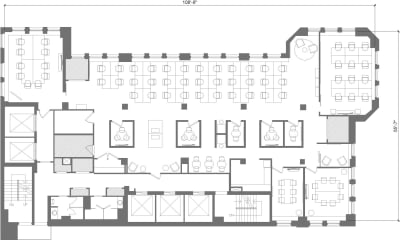 Floor plan for Breather office space 322 8th Ave, 18th Floor