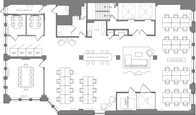 Floor plan for Breather office space Coming Soon: 36 W 25th Street, 6th Floor