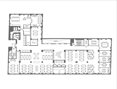 Floor plan for Breather office space Coming Soon: 401 Broadway, 12th Floor