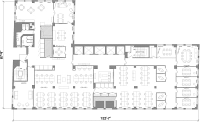 Floor plan for Breather office space 401 Broadway, 12th Floor