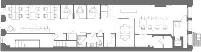 Floor plan for Breather office space Coming Soon: 450 Broadway, 4th Floor