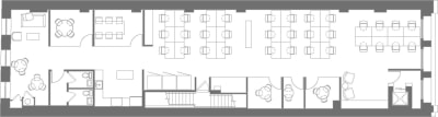 Floor plan for Breather office space Coming Soon: 450 Broadway, 5th Floor