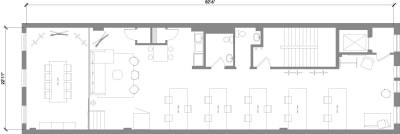 Floor plan for Breather office space 460 Broome Street, 3rd Floor, Suite 300