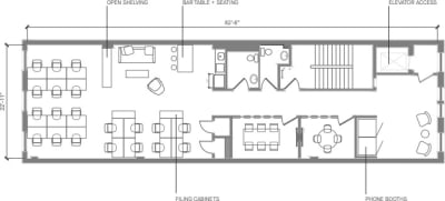 Floor plan for Breather office space Coming Soon: 460 Broome Street, 4th Floor, Suite 400