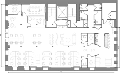 Floor plan for Breather office space 54 Thompson Street, 4th Floor, Suite 400