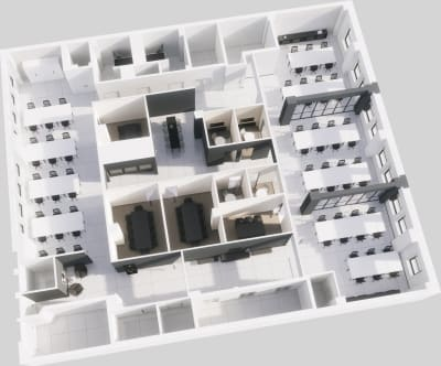 Floor plan for Breather office space 58 W 40th Street, #200, Coming Soon: 58 W 40th Street, 2nd Floor, Suite 200