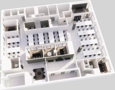 Floor plan for Breather office space Coming Soon: 58 W 40th Street, Mezzanine Floor