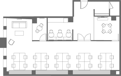 Floor plan for Breather office space 636 Broadway, 7th Floor, Suite 704