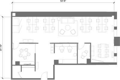 Floor plan for Breather office space 636 Broadway, 7th Floor, Suite 704