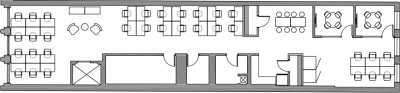 Floor plan for Breather office space Coming Soon: 734 Broadway, 2nd Floor, Suite 200