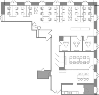 Floor plan for Breather office space Coming Soon: 225 Bush St., 18th Floor, Suite 1850