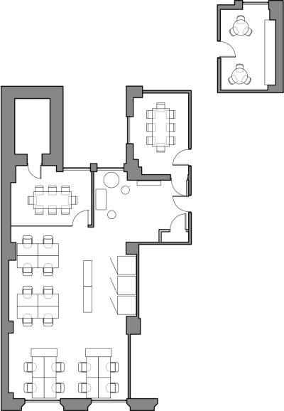 Floor plan for Breather office space Coming Soon: 244 California St, 2nd Floor