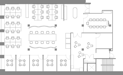 Floor plan for Breather office space Coming Soon: 250 Sutter, 4th Floor, Suite 400