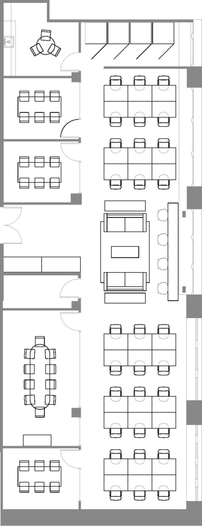 Floor plan for Breather office space Coming Soon: 250 Sutter, 4th Floor, Suite 450