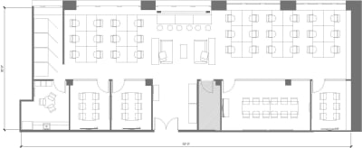 Floor plan for Breather office space 250 Sutter, 4th Floor, Suite 450