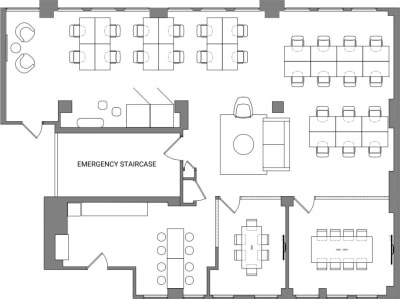 Floor plan for Breather office space Coming Soon: 311 California Street, 4th Floor, Suite 450