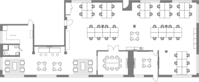 Floor plan for Breather office space 329 Bryant St., 2nd Floor, Suite 2C