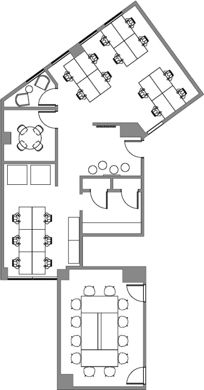 Floor plan for Breather office space Coming Soon: 564 Market St., 3rd Floor, Suite 305