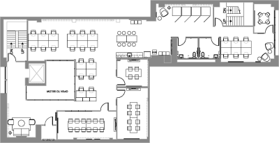 Floor plan for Breather office space Coming Soon: 565 Commercial, 2nd Floor
