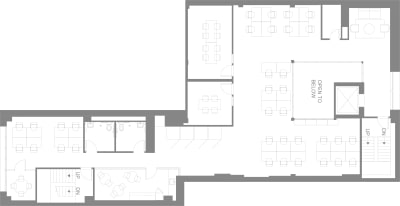 Floor plan for Breather office space 565 Commercial St., 3rd Floor, Suite 300