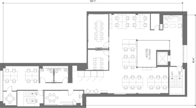 Floor plan for Breather office space 565 Commercial St., 4th Floor, Suite 400