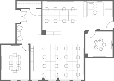 Floor plan for Breather office space 650 5th St., 4th Floor, Suite 402 & 410