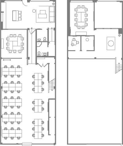 Floor plan for Breather office space 893 Folsom St., Suite A