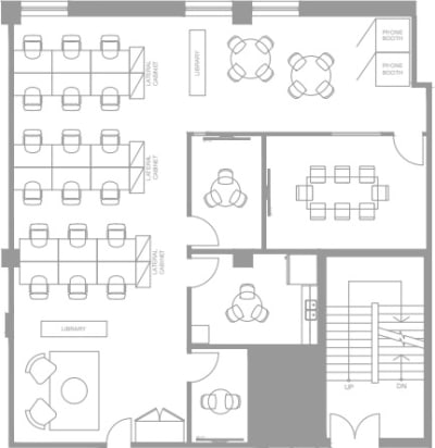 Floor plan for Breather office space 111 Peter St., 4th Floor, Suite 406A