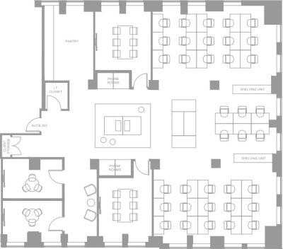 Floor plan for Breather office space Coming Soon: 25 Adelaide Street E, 3rd Floor, Suite 301