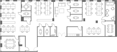 Floor plan for Breather office space 425 Adelaide St. West, 7th Floor, Suite 700, Room 1