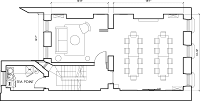 Floor plan for Breather office space 44 Welbeck Street, Marylebone, #1, 44 Welbeck Street, Marylebone, 1st Floor, Room 1