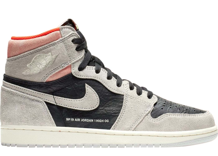 036357fb21c0a7 Air Jordan 1 Retro High Neutral Grey Hyper Crimson - 555088-018