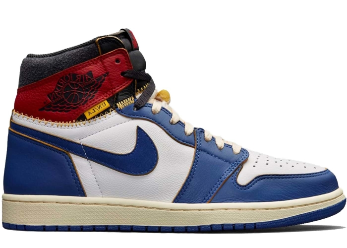 official photos 5584b 25c9a Air Jordan 1 Retro High Union Los Angeles Blue Toe - BV1300-146   BRED.
