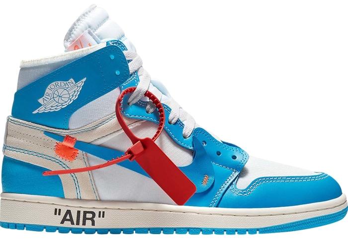 timeless design a58c1 0b0c6 Air Jordan 1 Retro High OFF-WHITE University Blue UNC - AQ0818-148 ...