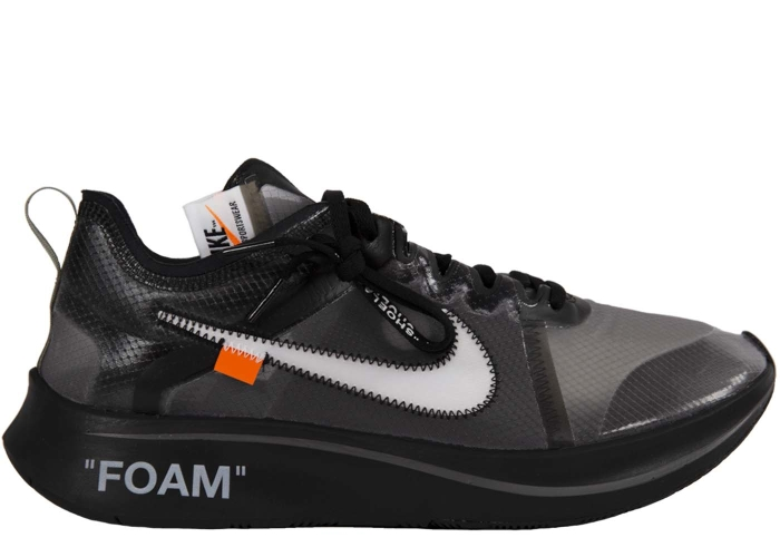 20a474a08c06f Nike Zoom Fly OFF-WHITE Black Silver - AJ4588-001
