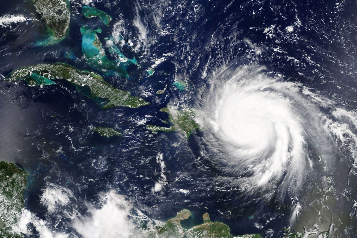 picture of hurricane maria from above