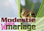 La modestie dans le mariage