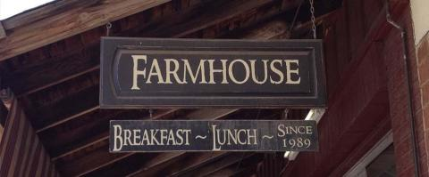 <h5>The Farmhouse Restaurant - Signage</h5>