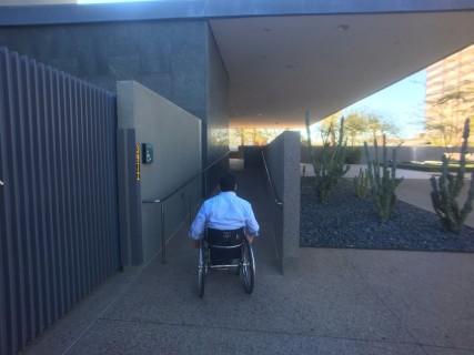 <h5>Phoenix Art Museum</h5><p>Ramp to the main entrance.</p>