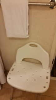 <h5>Gaylord Texan Resort & Convention Center</h5><p>Shower chair provided in the bathroom. No need to have to call the front desk and ask for one!</p>