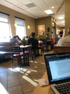 <h5>Chick-fil-A</h5><p> Chick-fil-A - Dining Area Seating</p>