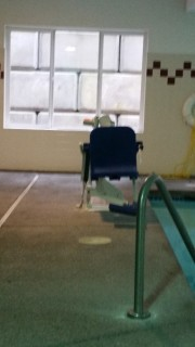 <h5>Comfort Suites Southwest</h5><p> Comfort Suites Southwest - Closer view of the chair lift</p>