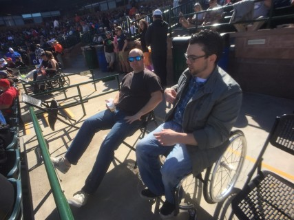 <h5>Scottsdale Stadium</h5><p>Accessible seating behind home plate.  Lots of room in the box.</p>
