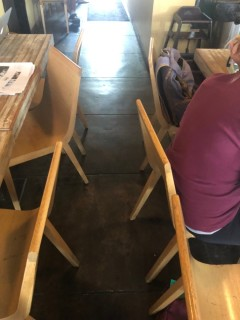 <h5>Lola Coffee</h5><p> Lola Coffee - Dining Area Seating