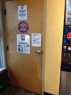 <h5>Bathroom door</h5>