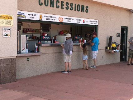 <h5>Concession stand with partially lowered counter</h5>