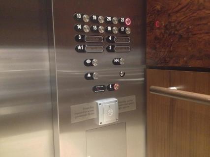 <h5>Hotel elevator controls</h5>